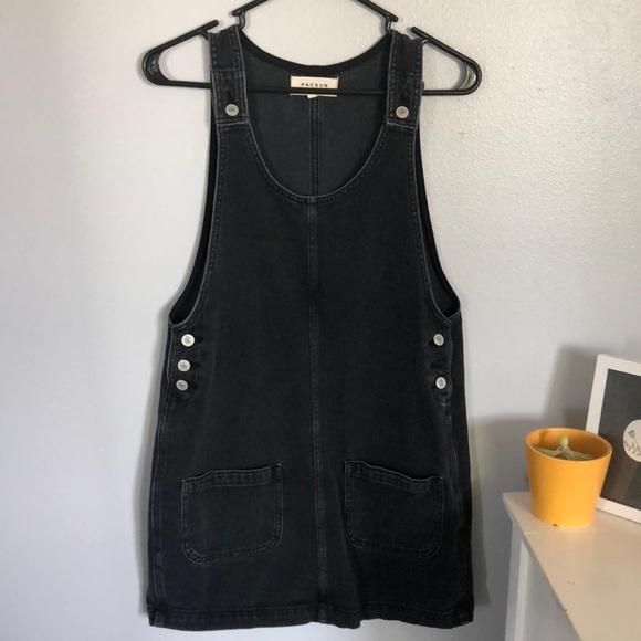 13e54ee202 Black overall dress